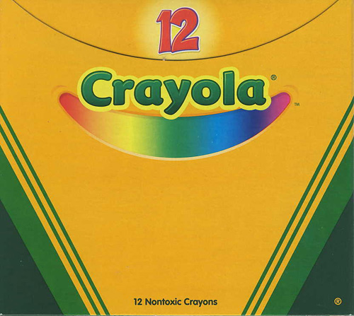 Box of 12 Green Crayons